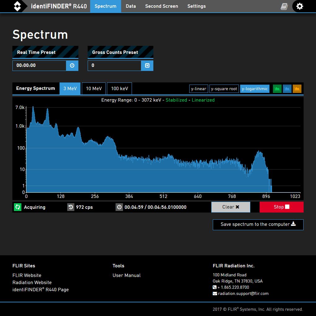 The spectrum page